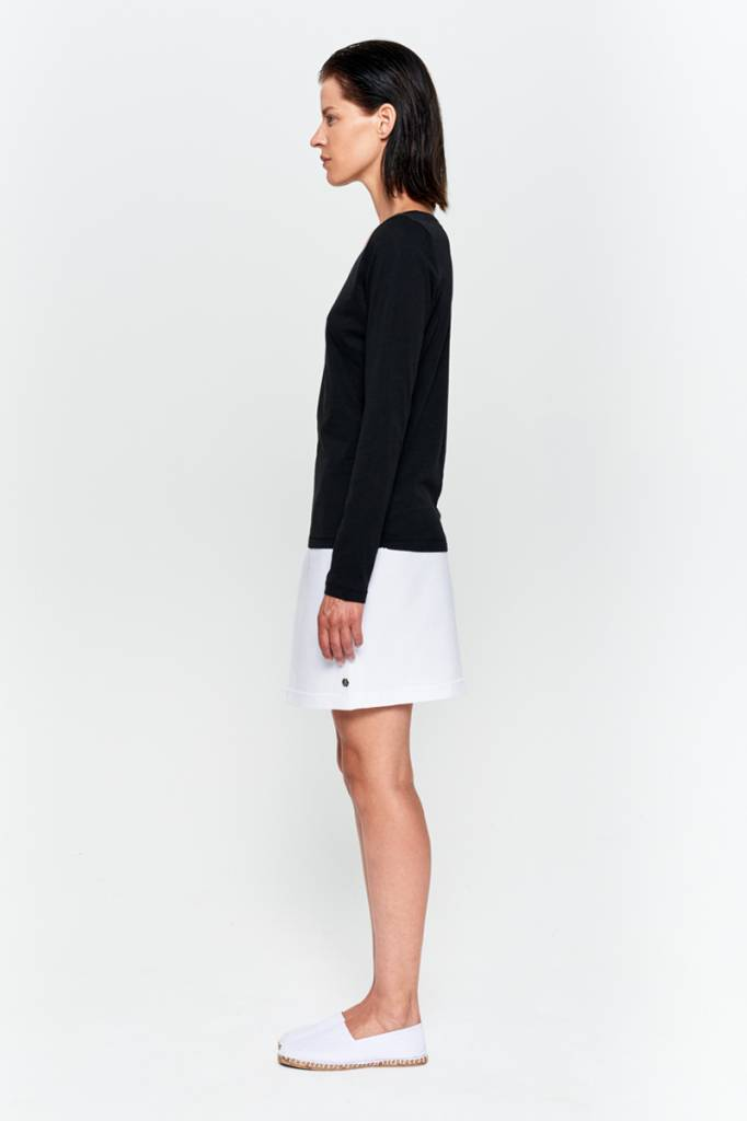 Basic long sleeve shirt made from organic cotton white-4