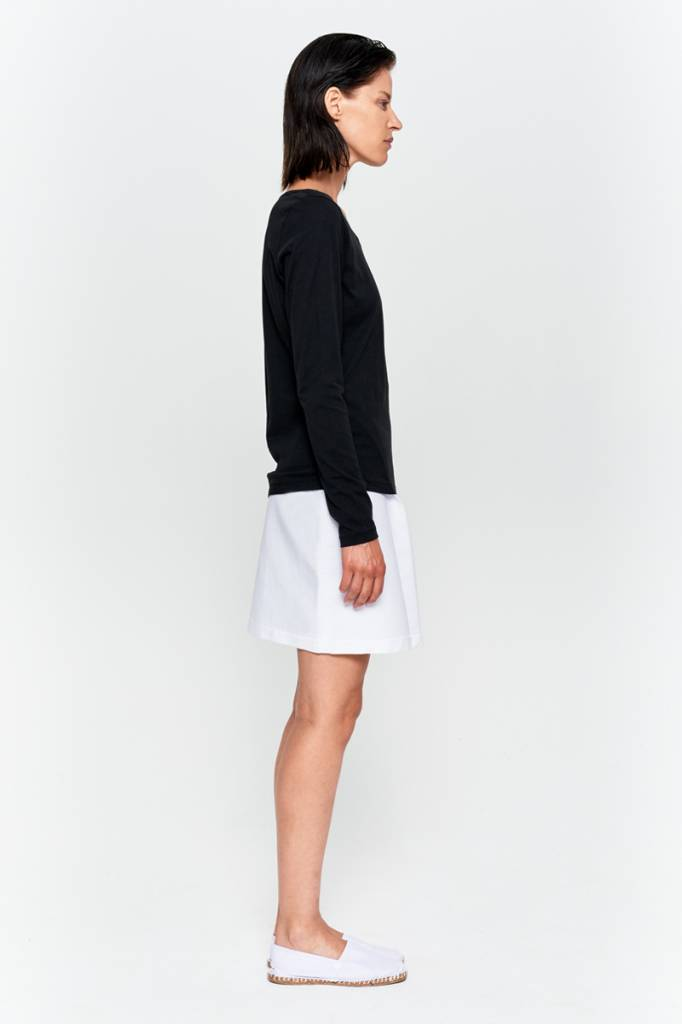 Basic long sleeve shirt made from organic cotton white-5