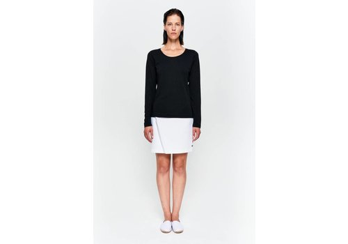 Basic long-sleeved shirt in organic cotton black