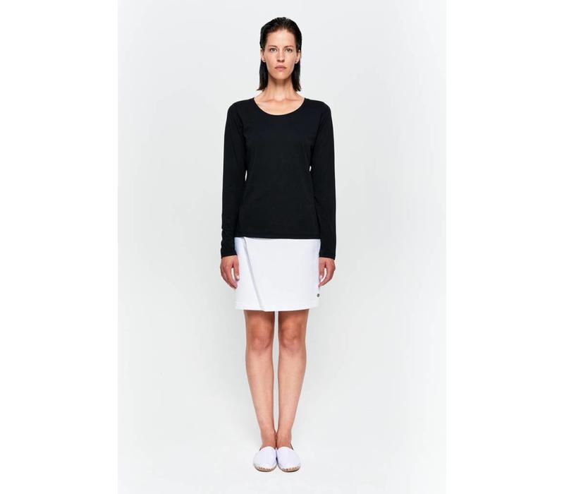 Basic Langarm-Shirt aus Bio-Baumwolle schwarz