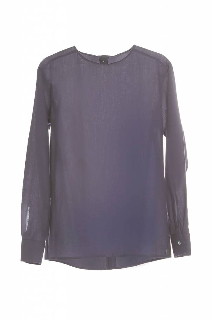 Long sleeve shirt with back detail-2