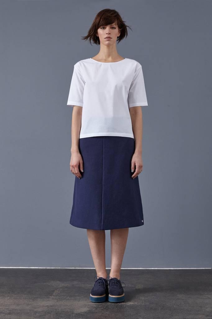Skirt made of organic cotton fleece softgrey-5