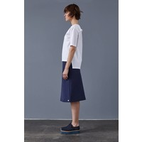 Skirt made of organic cotton fleece softgrey