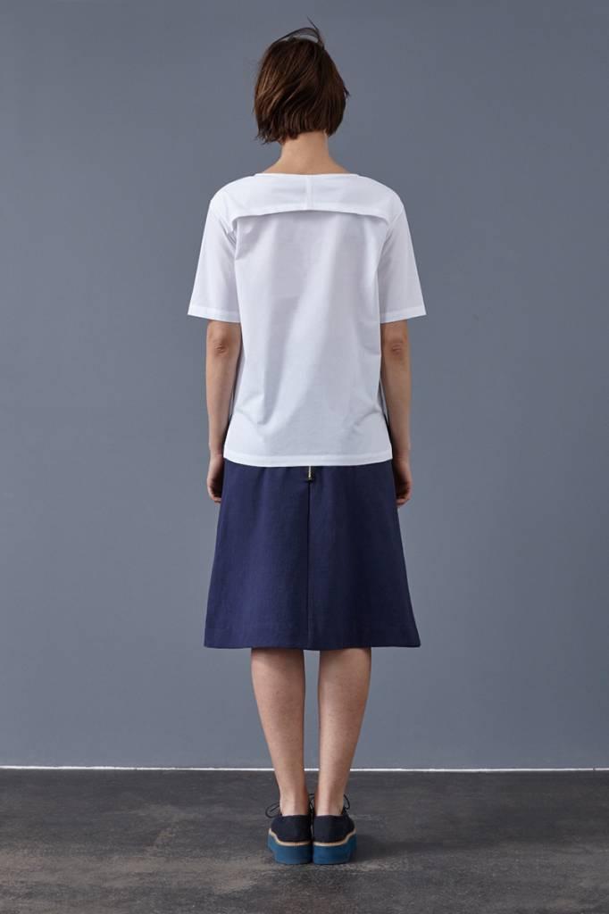 Skirt made of organic cotton fleece softgrey-7