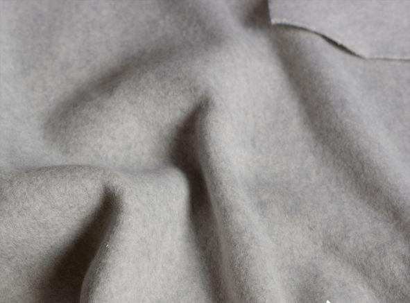 Skirt made of organic cotton fleece softgrey-1