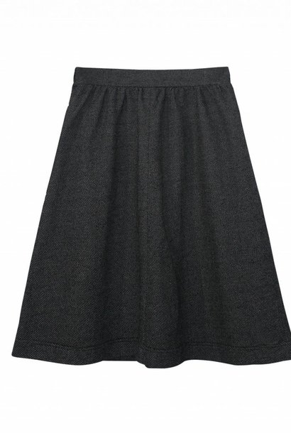 Skirt made of delicately patterned organic cotton