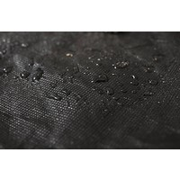 Gefütterter Wintermantel aus innovativem Material - Schwarz