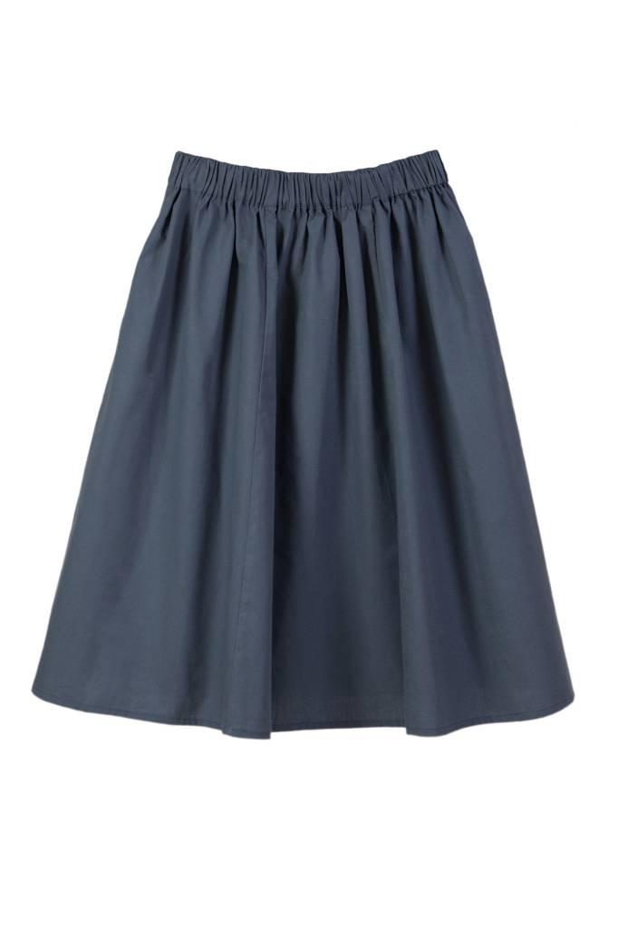 Batiste skirt slate blue-3
