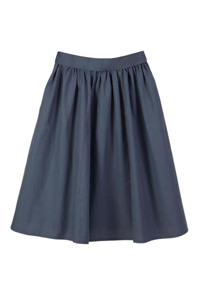 Batiste skirt slate blue-2