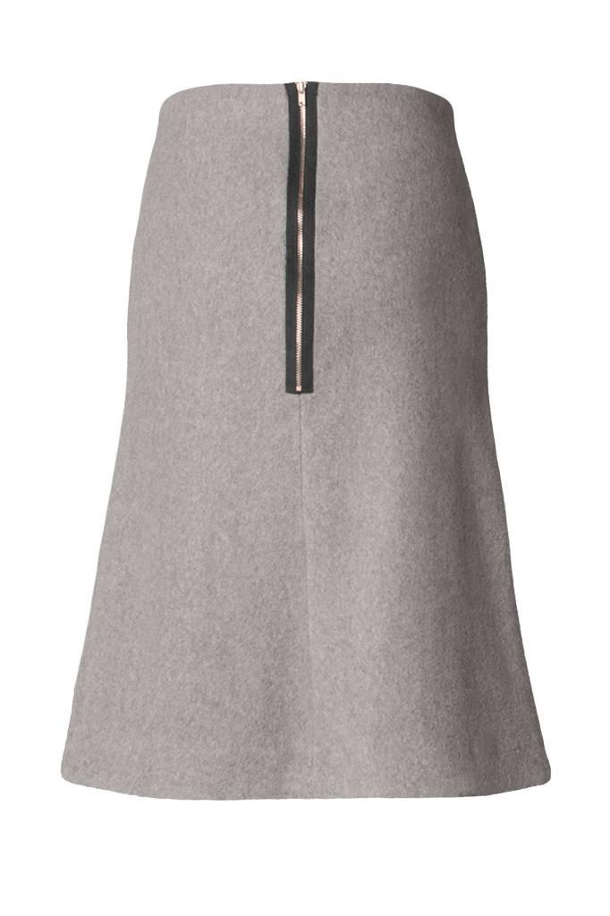 Skirt made of organic cotton fleece softgrey-4