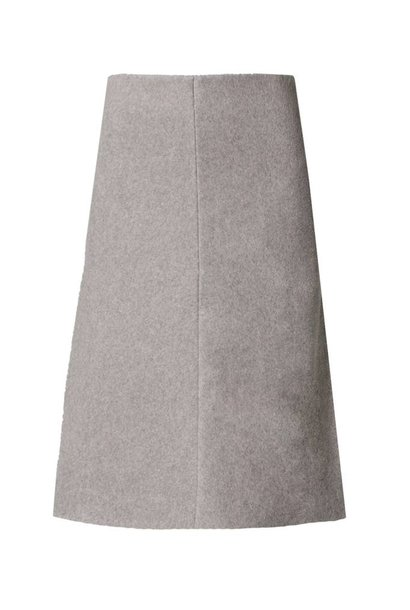 Skirt made of organic cotton fleece softgrey