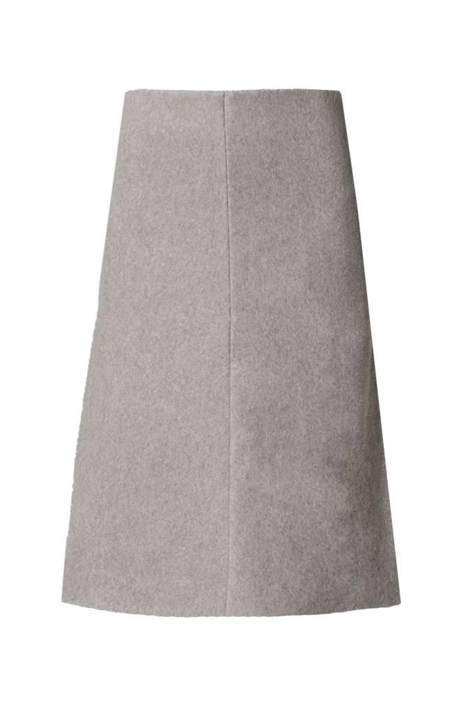 Skirt made of organic cotton fleece softgrey-2