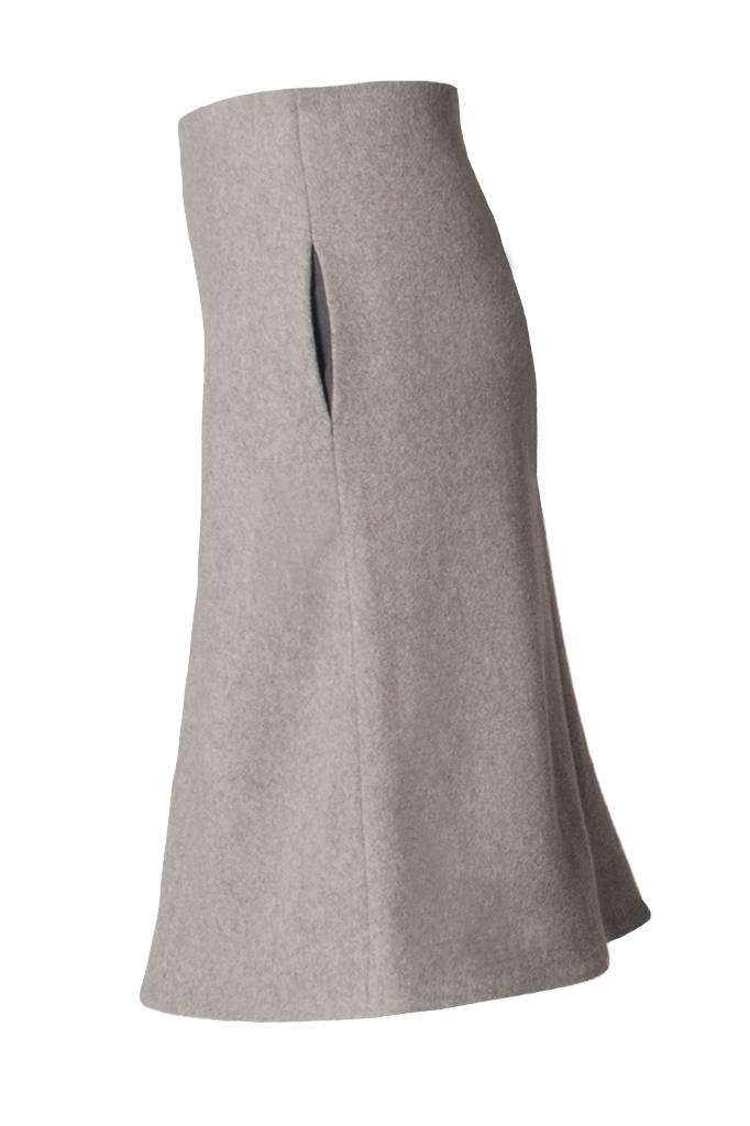 Skirt made of organic cotton fleece softgrey-3