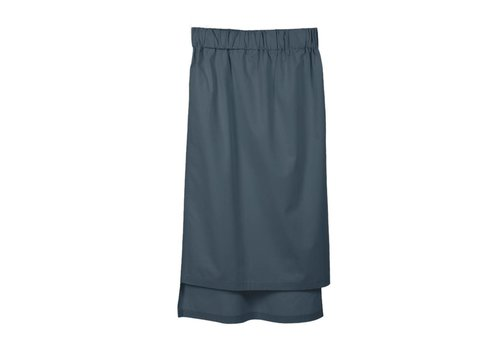 Skirt with hem detail in organic cotton anthracite