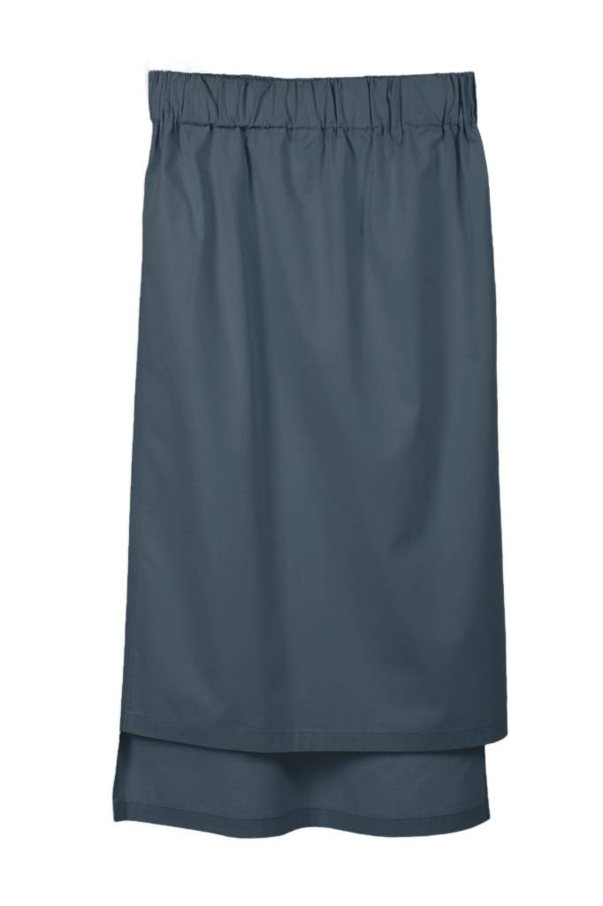 Skirt with hem detail in organic cotton anthracite-1
