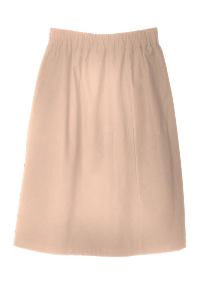 Skirt made of organic cotton flannel nude-1