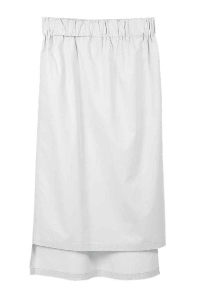 Skirt with seam detail in organic cotton white-1