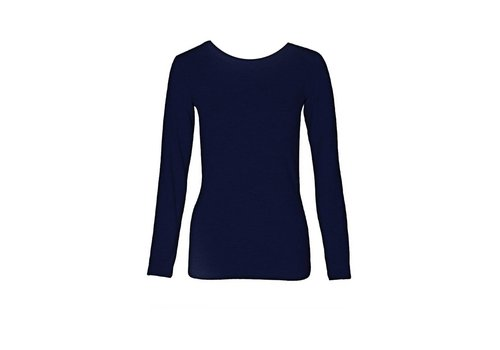 Basic Langarm-Shirt aus Bio-Baumwolle navy