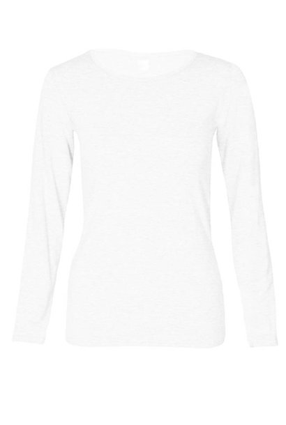 Basic long sleeve shirt made from organic cotton white