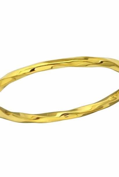 Narrow ring - entwined - 925 sterling silver - gold