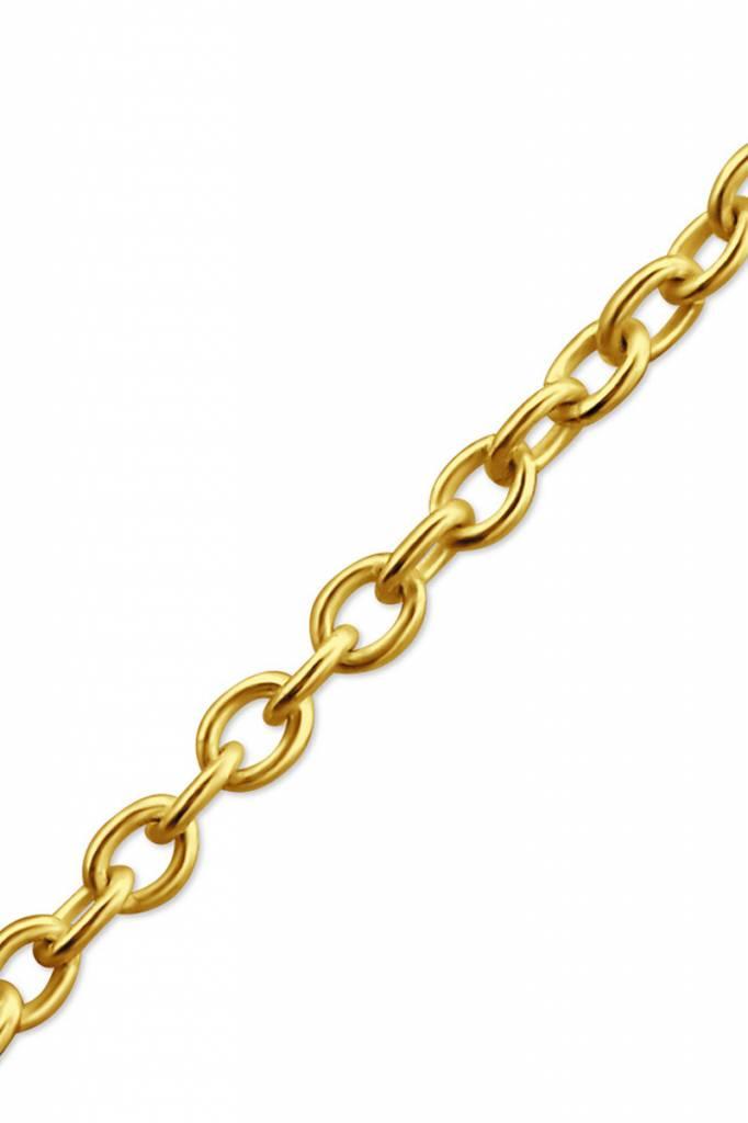 Feine Pulloverkette - 925 Sterling Silber  - Gold-2