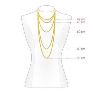 Feine Pulloverkette - 925 Sterling Silber  - Gold-3