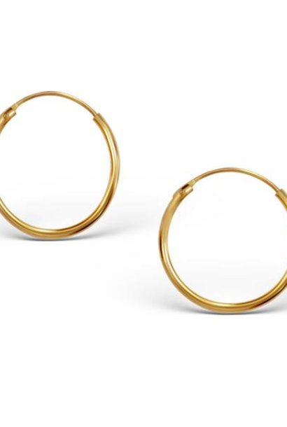 Small Hoops Earrings - 925 Sterling Silver Gold