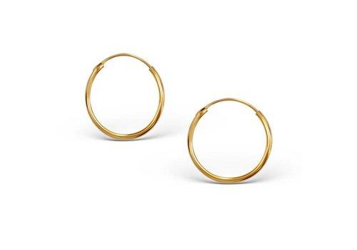 Kleine Creolen Ohrringe - 925er Sterling Silber - Gold