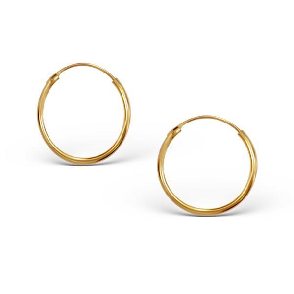Small Hoops Earrings - 925 Sterling Silver Gold-1