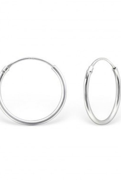 Small Hoop Earrings - 925 Sterling Silver
