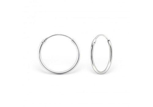 Small Hoop Earrings - 925 Sterling Silver