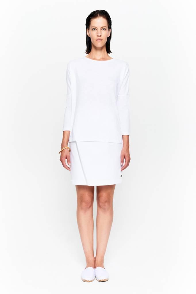 Basic shirt 3/4 sleeve in organic cotton - Nude-4