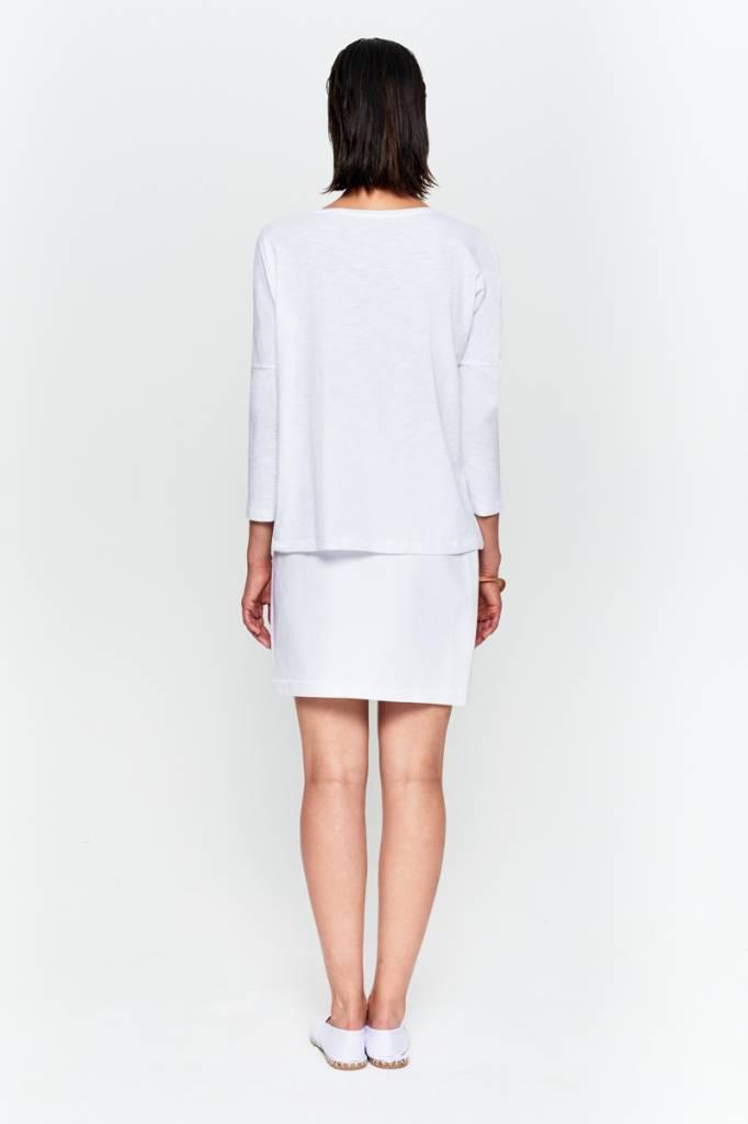 Basic shirt 3/4 sleeve in organic cotton - Nude-7