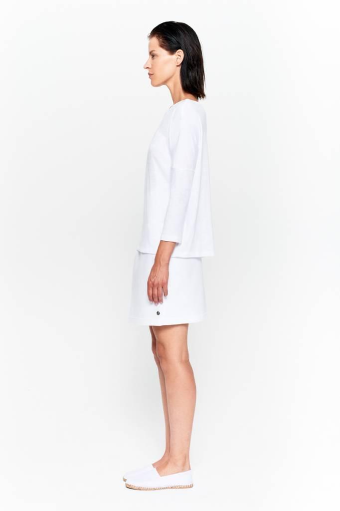 Basic shirt 3/4 sleeve in organic cotton - Nude-5
