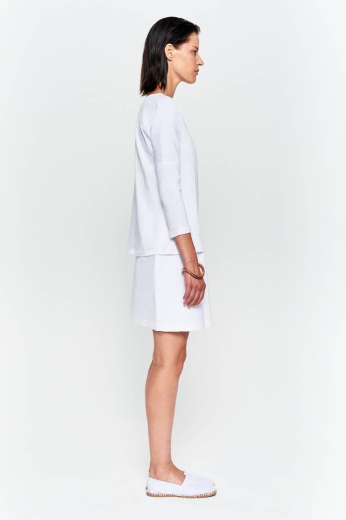 Basic shirt 3/4 sleeve in organic cotton - Nude-6