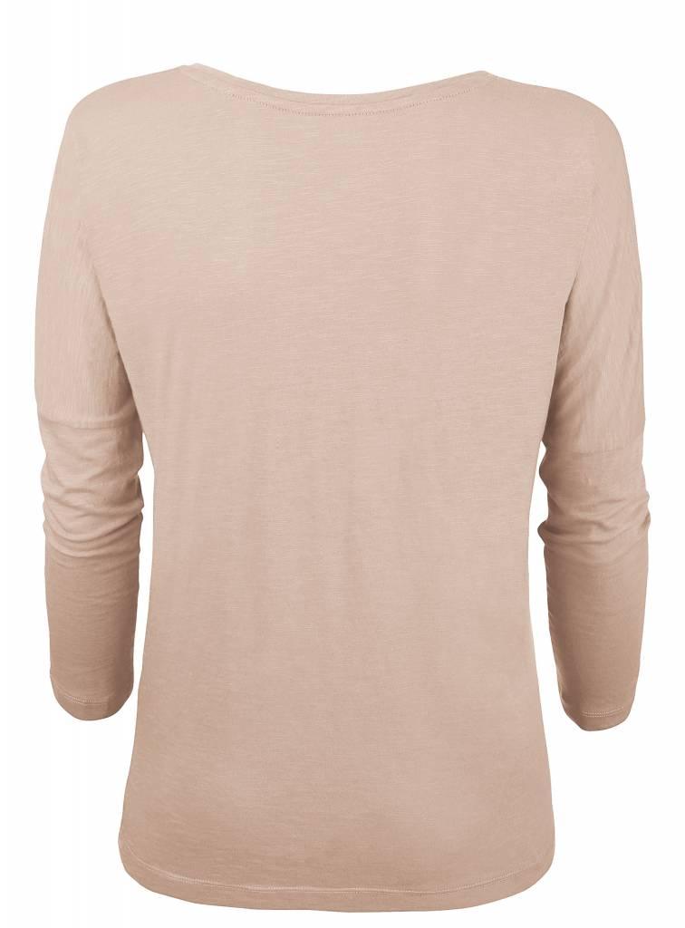 Basic shirt 3/4 sleeve in organic cotton - Nude-3