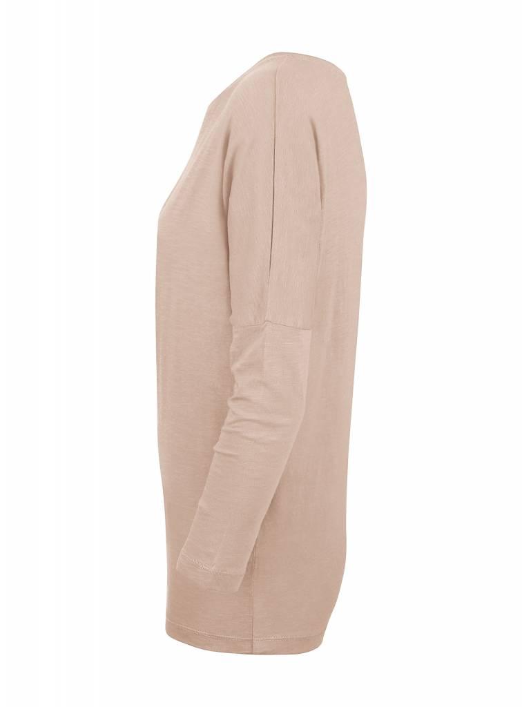 Basic shirt 3/4 sleeve in organic cotton - Nude-2