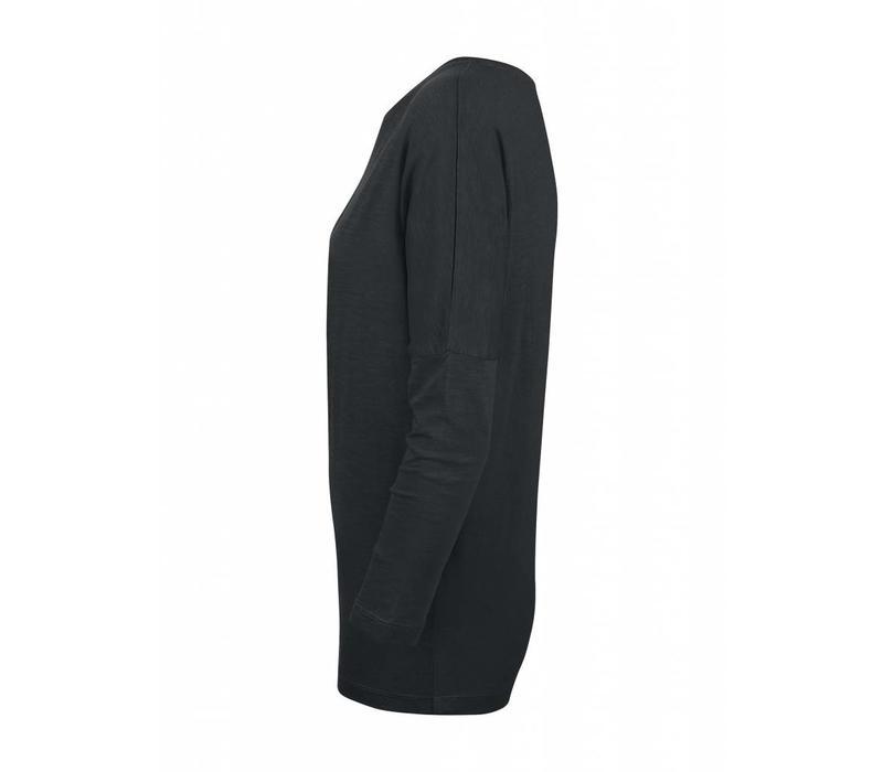 Basic Shirt 3/4 Arm aus Bio-Baumwolle - Schwarz