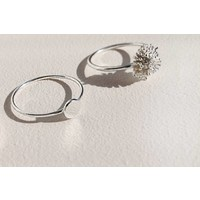 Fine ring with disc of 925 sterling silver