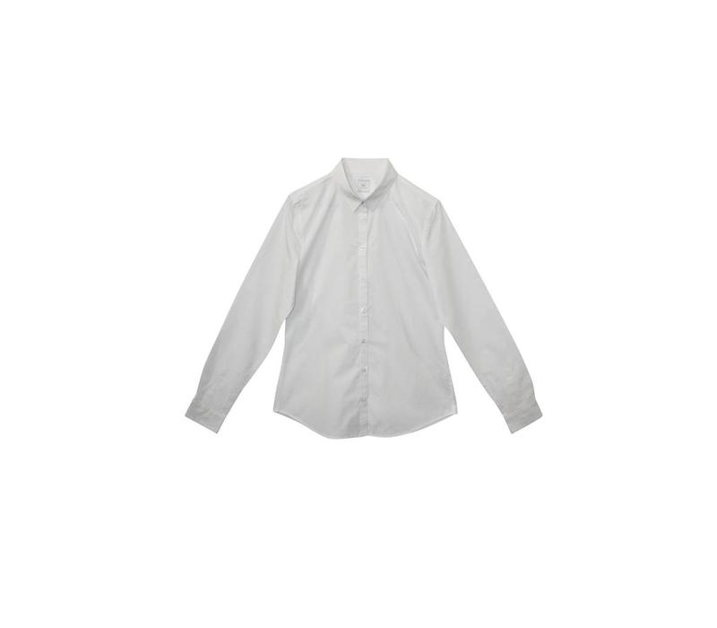Classic shirt blouse in organic cotton - white
