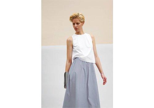 Organic cotton maxi skirt - light gray