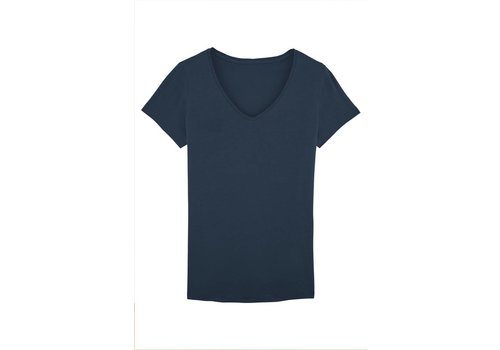 Basic T-Shirt V-neck made of organic cotton navy