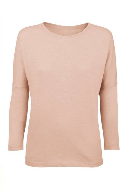 Basic shirt 3/4 sleeve made of organic cotton nude