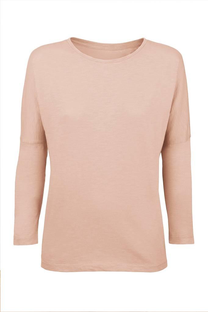 Basic shirt 3/4 sleeve in organic cotton - Nude-1