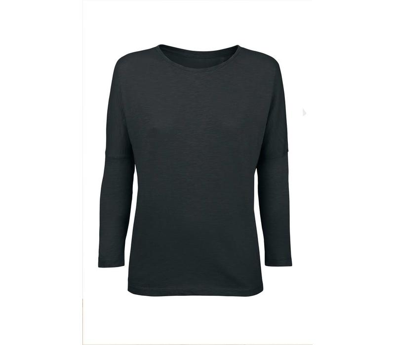 Basic shirt 3/4 sleeve made of organic cotton - black