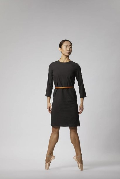 Kleid mit Knöpfen aus Bio-Baumwolle - Schwarz