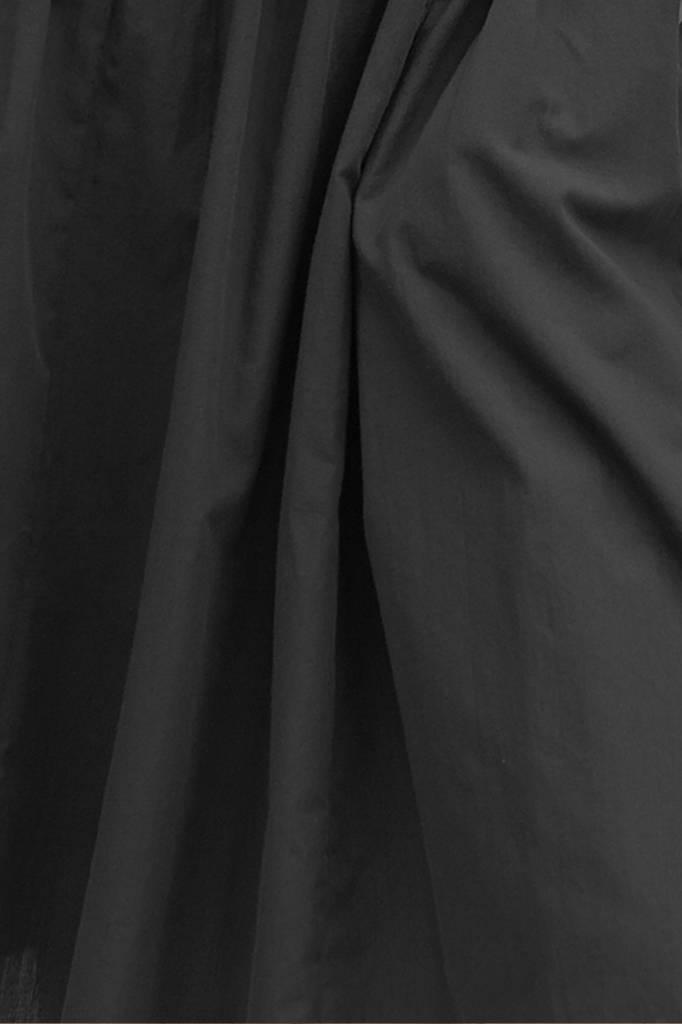 Organic cotton buttoned dress - Black-5