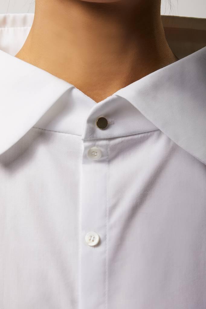 Statement Bluse aus Bio-Baumwolle - Weiß-4