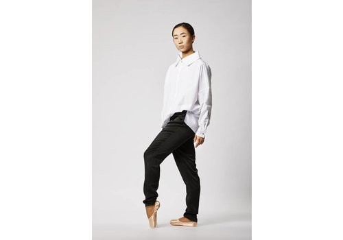 Statement blouse in organic cotton - white