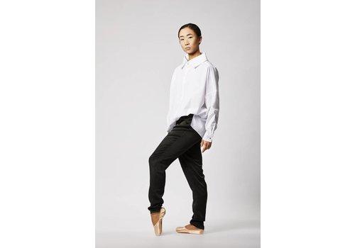 Statement blouse in organic cotton - white